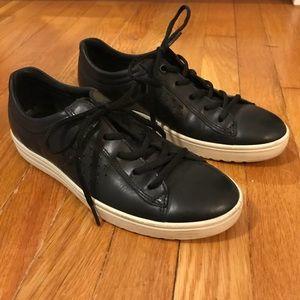 Ecco Black Leather Sneakers 8.5